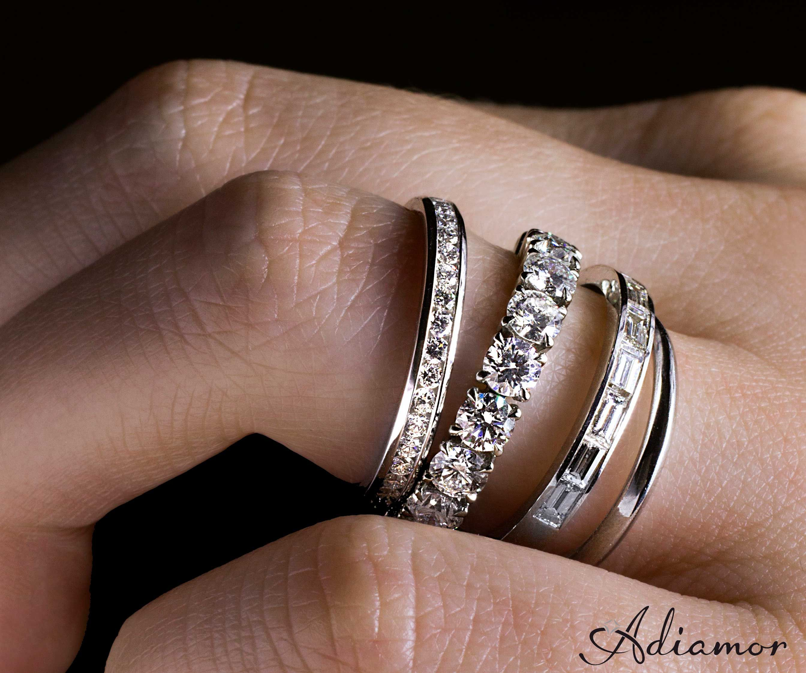 bands diamond rings and anniversary wedding