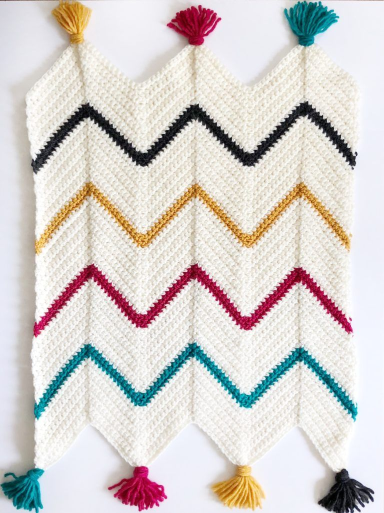 Crochet Tribal Chevron Blanket - Daisy Farm Crafts #crochet ...