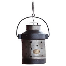 """Rustic Milk Can Pendant - would look awesome in a """"farm house"""" kitchen!!!"""
