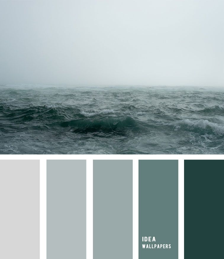 Sea Fog And Grey Green Ocean Inspired Color Palette Color Palette Fog Over Sea C Green Color Palette Bedroom Green Bedroom Colors Color Palette Living Room