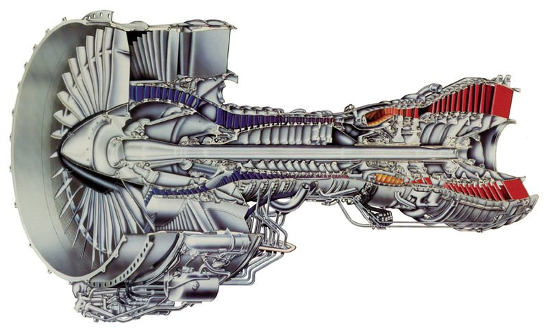 Cutaway Illustration Of An F117 Engine For The C 17 Cargo Plane The Mechanical Made Flesh With Such A Gorgeous Rendering And Beautiful Colours Turbina Motores