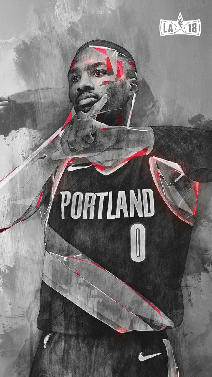Dame Dot Nba basketball art, Mvp basketball, Nba pictures