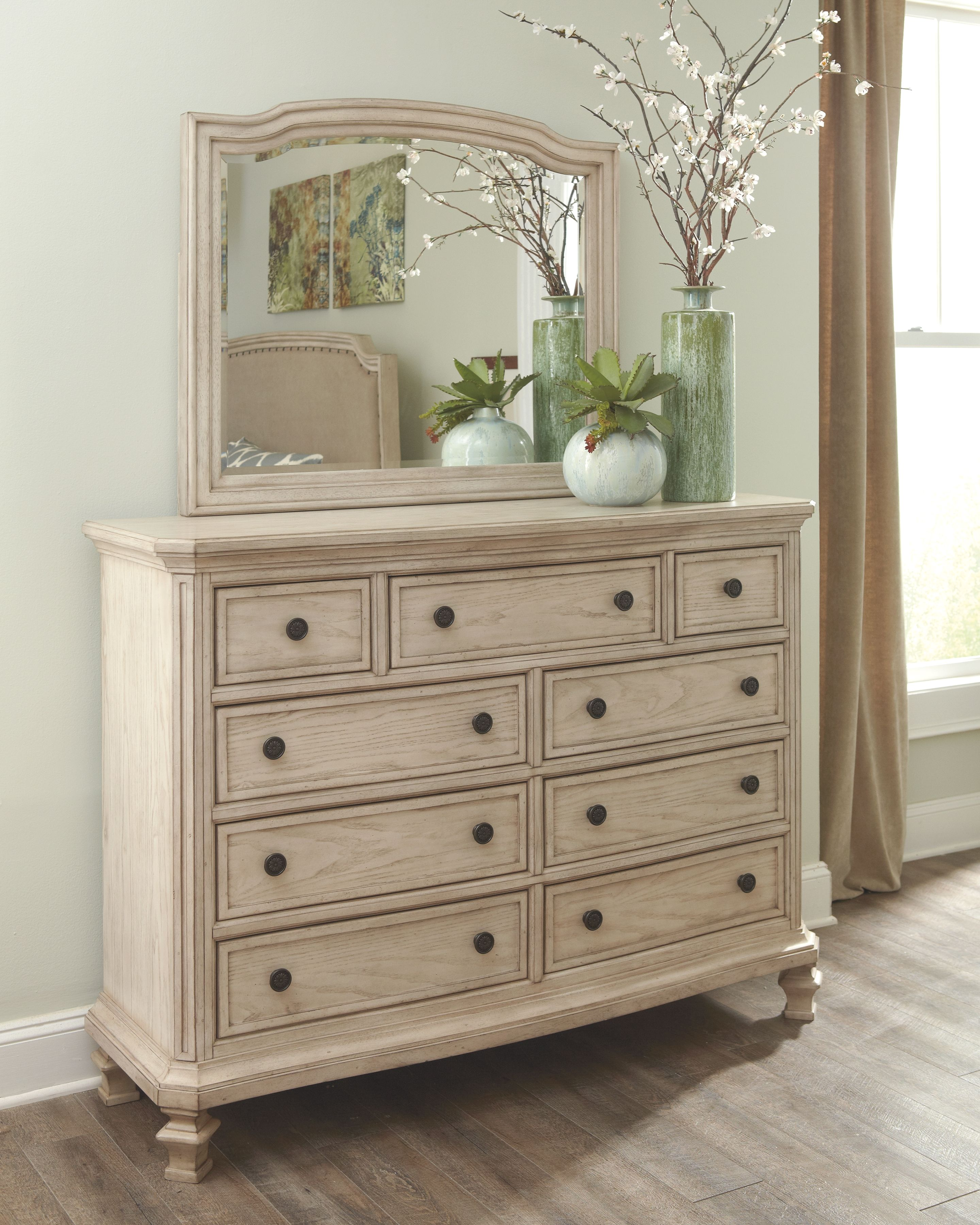 Demarlos Dresser and Mirror in 2019   Products   Distressed bedroom ...