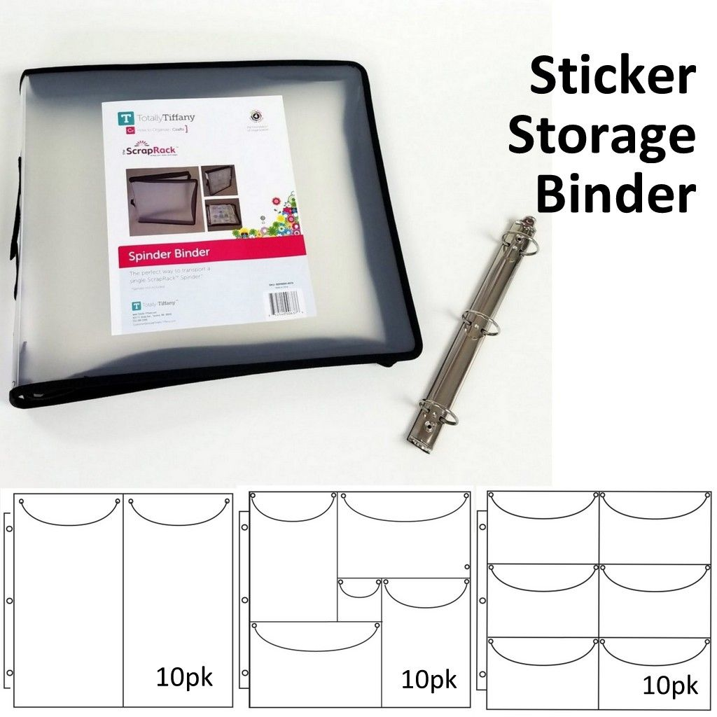 Sticker Storage, Sticker Organization, Craft Storage