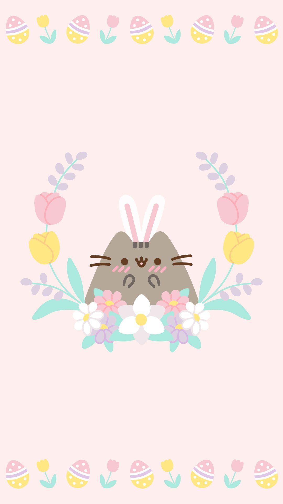 Cute Easter Pusheen Wallpaper Pusheen Cute Kawaii Wallpaper Cute Cartoon Wallpapers