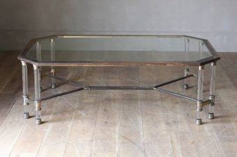 A Large Br And Lucite Coffee Table Amazing Rare See