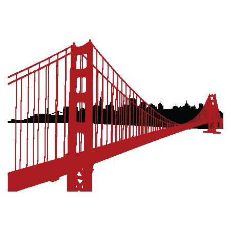 Golden Gate Bridge Decal Wall Art