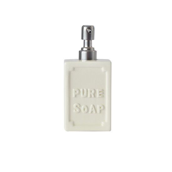 square cream vintage style ceramic pure soap dispenser new - Bathroom Accessories Vintage Look