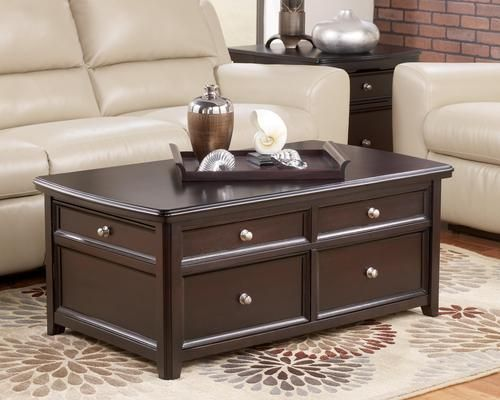 Carlyle Rectangular Lift Top Cocktail Table Coffee Table Coffee Table With Storage Coffee Table Setting