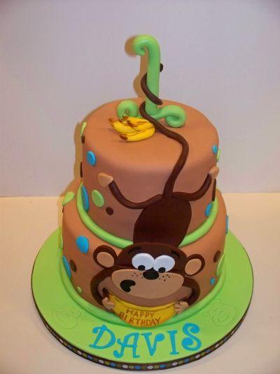 Idea mono colgando cumplea os tarta de cumplea os - Bizcocho cumpleanos para ninos ...