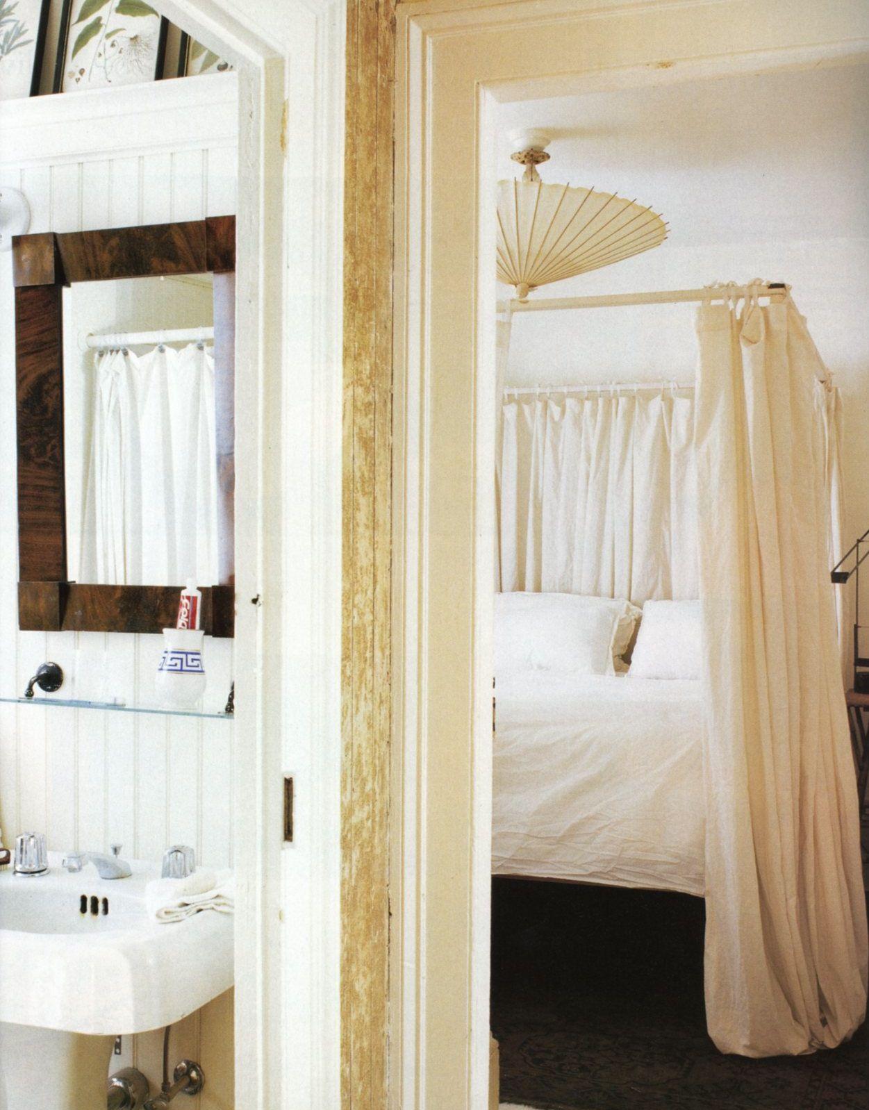 Frank faulker elle decor romantic bedroom fortuny pendant