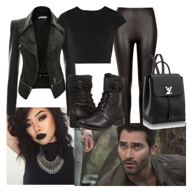 """Derek Hale"" by misspan ❤ liked on Polyvore featuring River Island, Alice + Olivia and UGG"
