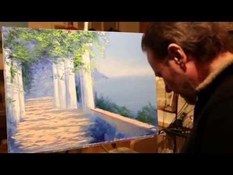 Moon motive PART 1 - night scene, waves, sea landscape - FULL length lesson - Igor Saharov - YouTube