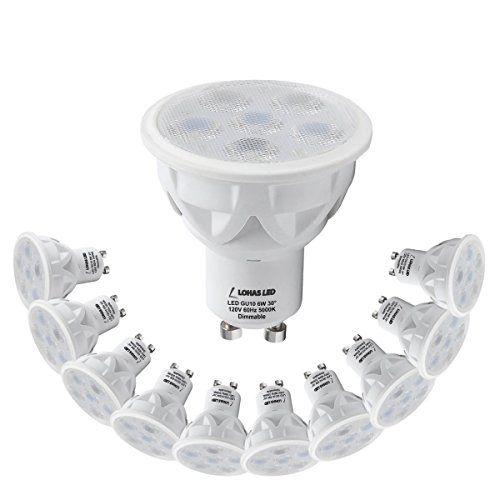 Lohas Led Gu10 Dimmable Light Bulbs 6 Watt Daylight White 5000k Recessed Lighting 50 Watt Led Lights For H Dimmable Light Bulbs Led Lighting Home Led Bulb