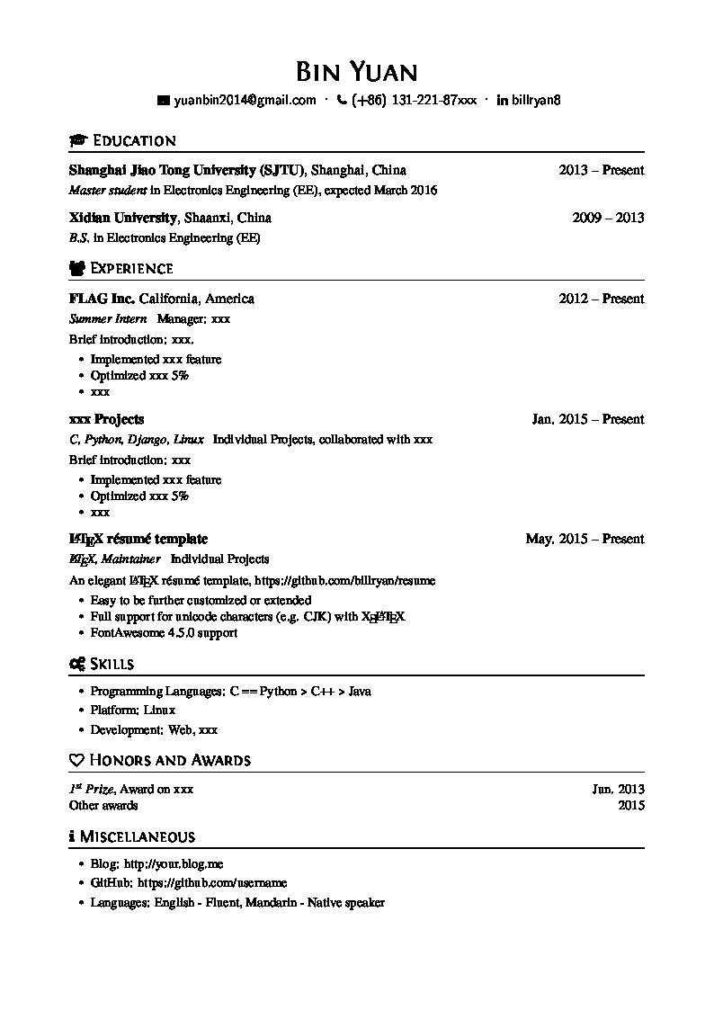 Pin On 1 Cv Template