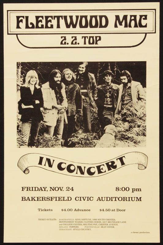 Fleetwood Mac Original Concert Poster Cartel De Concierto Carteles De Concierto Carteles De Musica