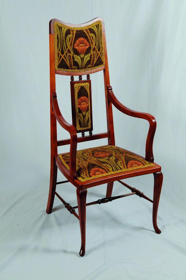 chair looks like louis majorelle all things art nouveau pinterest jugendstil m bel. Black Bedroom Furniture Sets. Home Design Ideas
