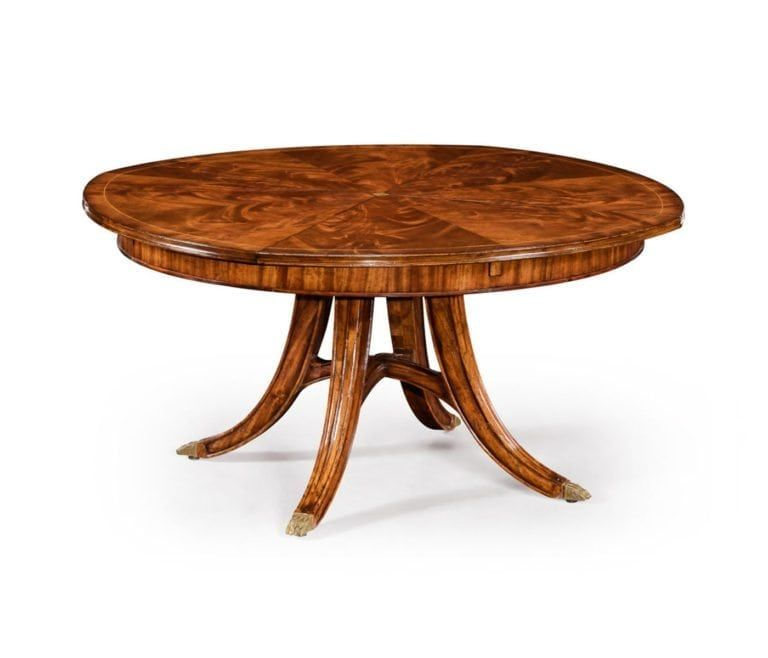 7880a51bd843 Traditional Round Walnut Jupe Table with Hidden Leaves in 2019 ...