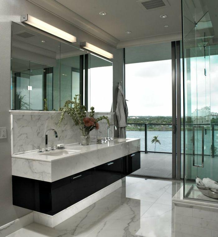 Meuble double vasque - 50 idées aménagement salle de bain - Archzine