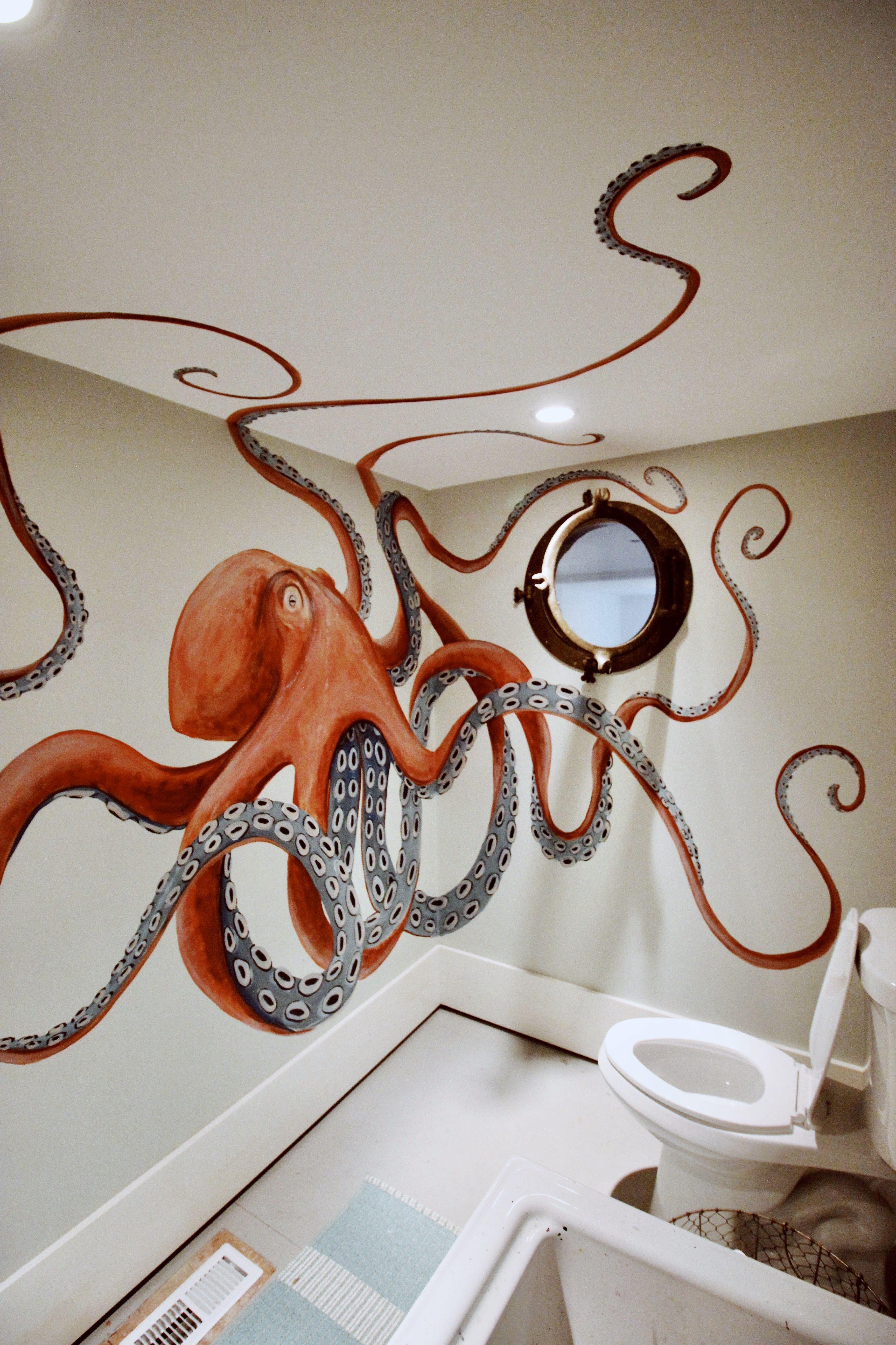 Octopus Bathroom Ideas Kitchen Livingroom Homedecorideas Interiordesign Bedroom Octopus Decor Octopus Bathroom Octopus Drawing