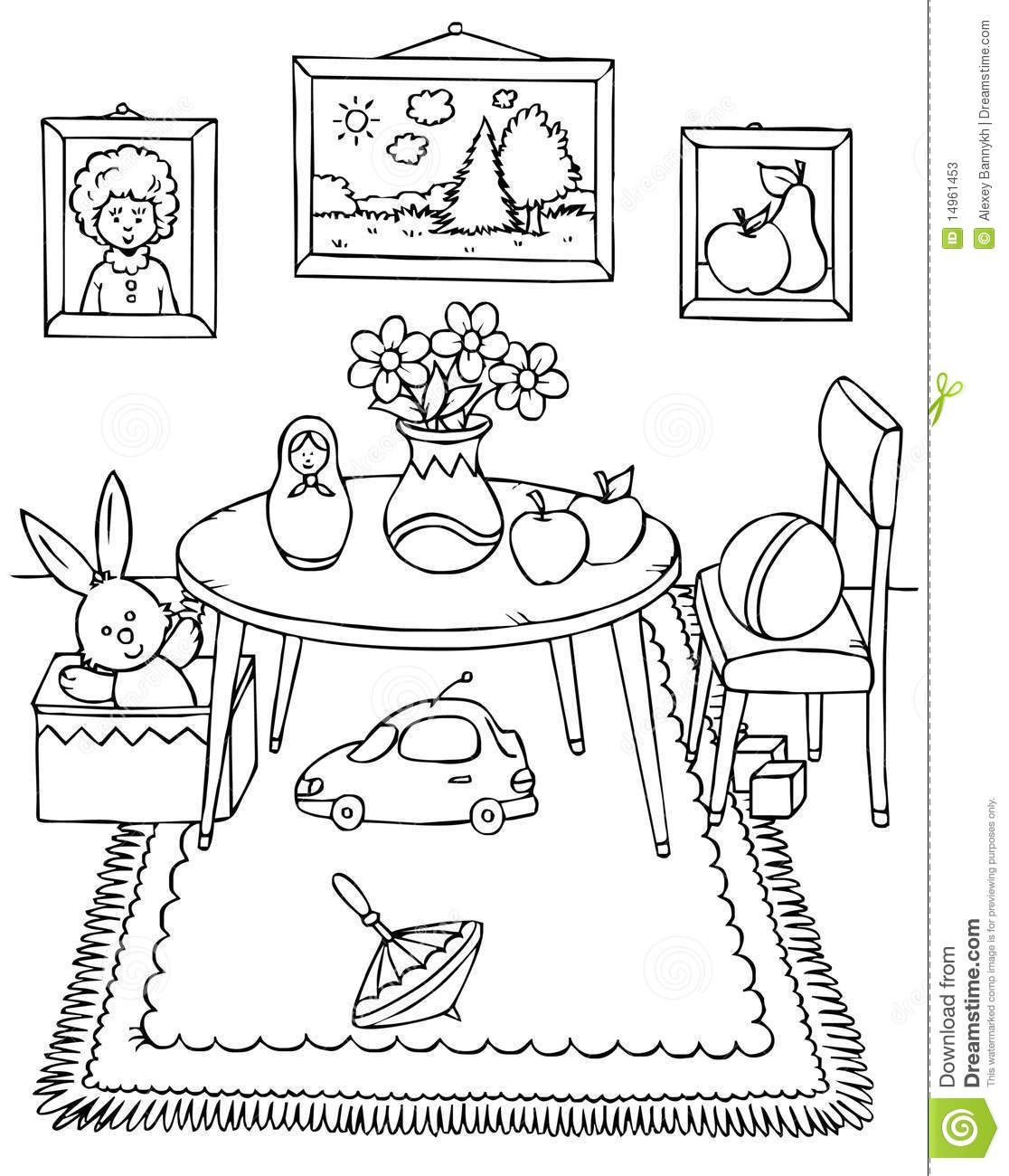 Image Result For Coloring Pages Furniture Kids Bedroom