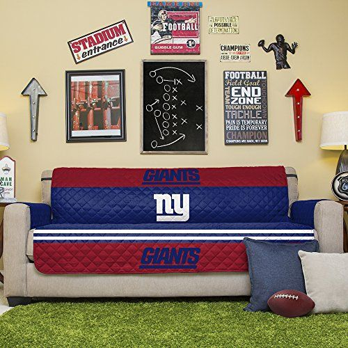 Exceptional NFL New York Giants Sofa Couch Reversible Furniture Protector With Elastic  Straps 75inches By 110inches U003e
