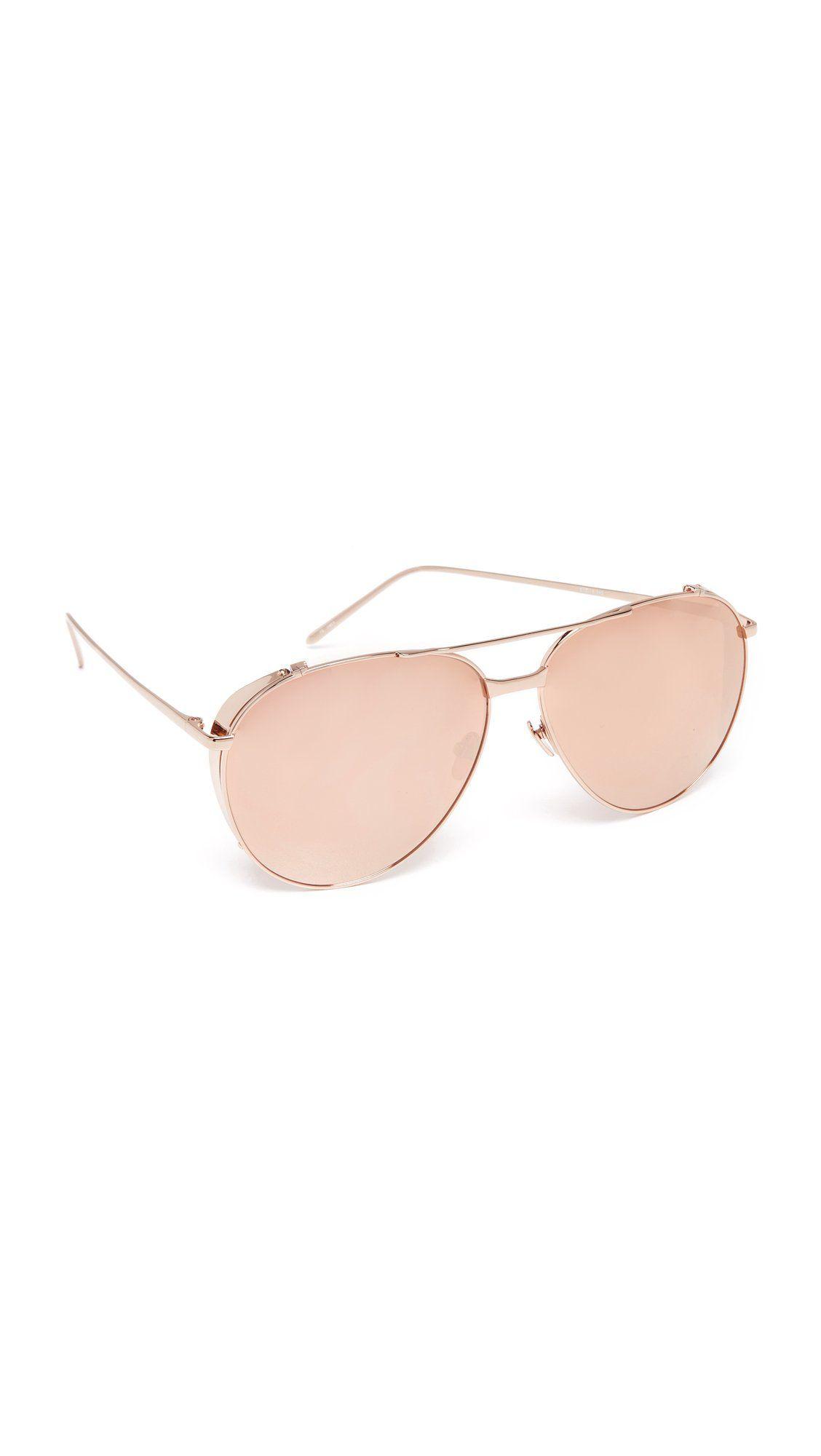 Linda Farrow Luxe Women s Mirrored Aviator Sunglasses f9a8241ebd