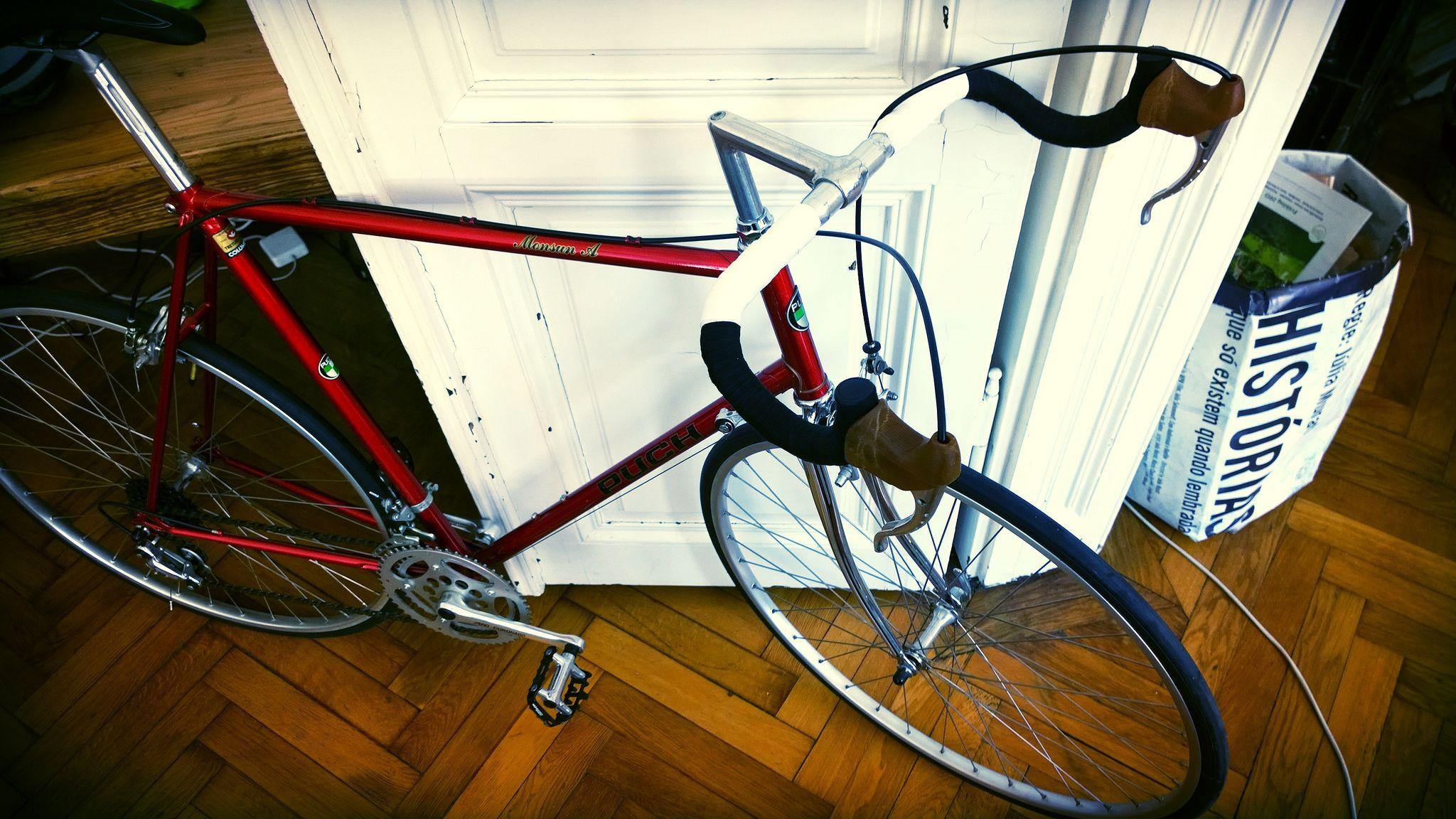 puch rennrad mit wsc wsk farben lenker bike bicycle vehicles. Black Bedroom Furniture Sets. Home Design Ideas