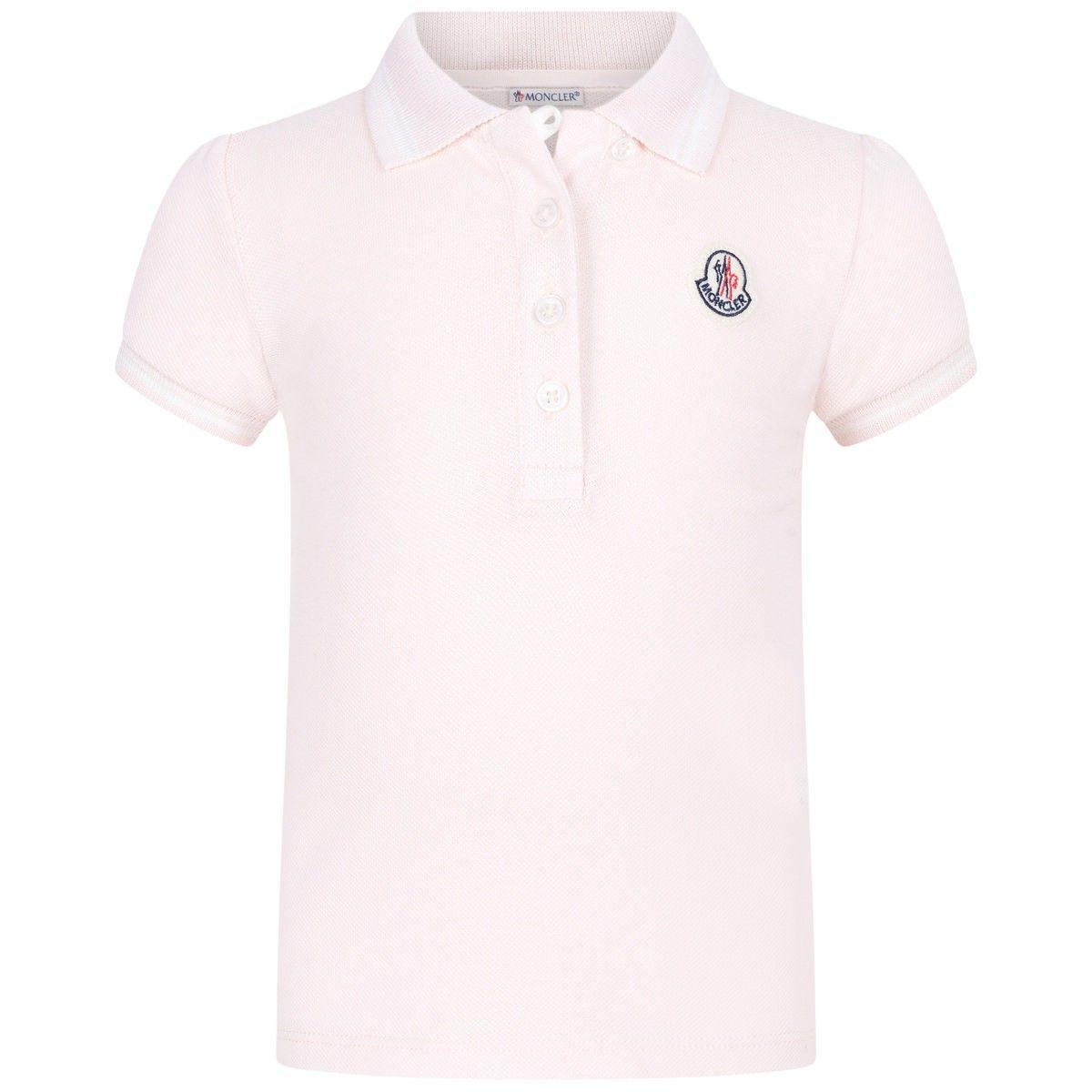Moncler Baby Girls Pale Pink Polo Shirt Moncler Ss16 Moncler