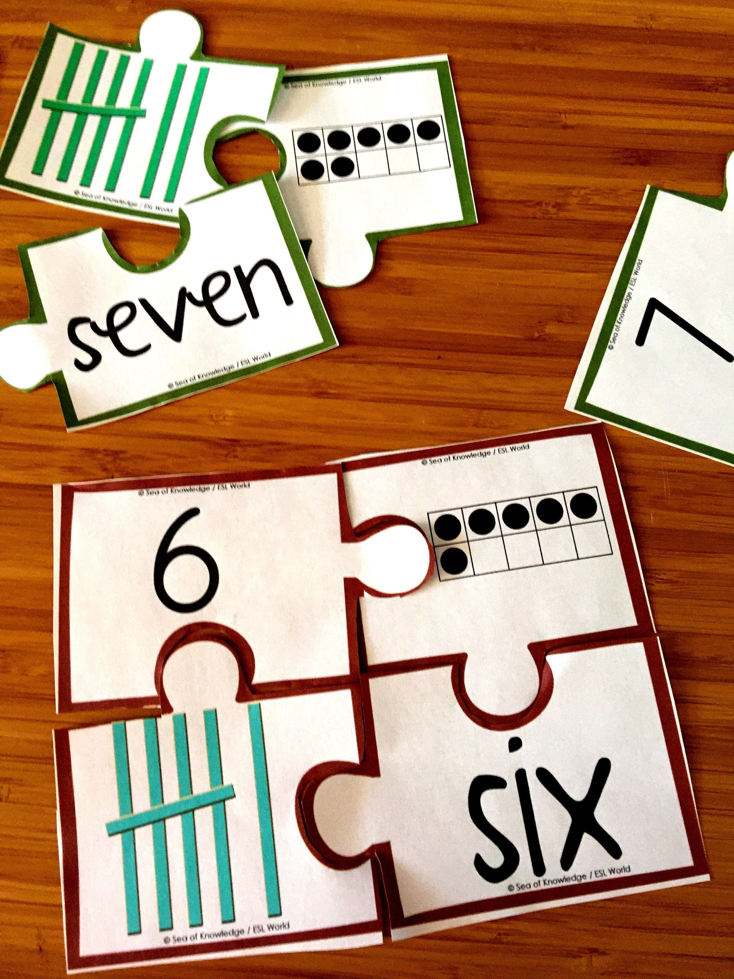 Number Puzzles Number Practice Tally Marks Ten Frames