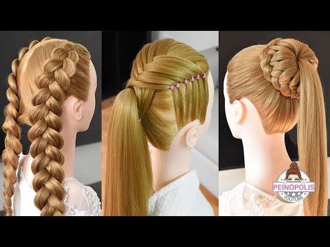 Photo of 3 Easy hairstyles with braids for girls | High fashion pigta…