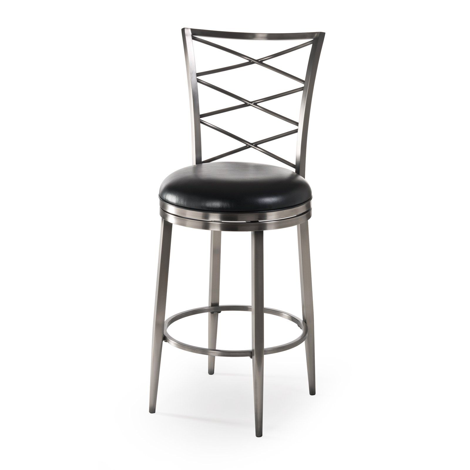 Have to have it. Hillsdale Harlow Swivel Counter Stool - Antique Pewter - $202 @hayneedle