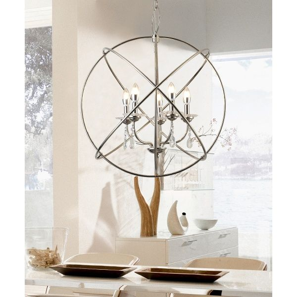 5 light modern design decorative ball style chandelier lamp by ola living