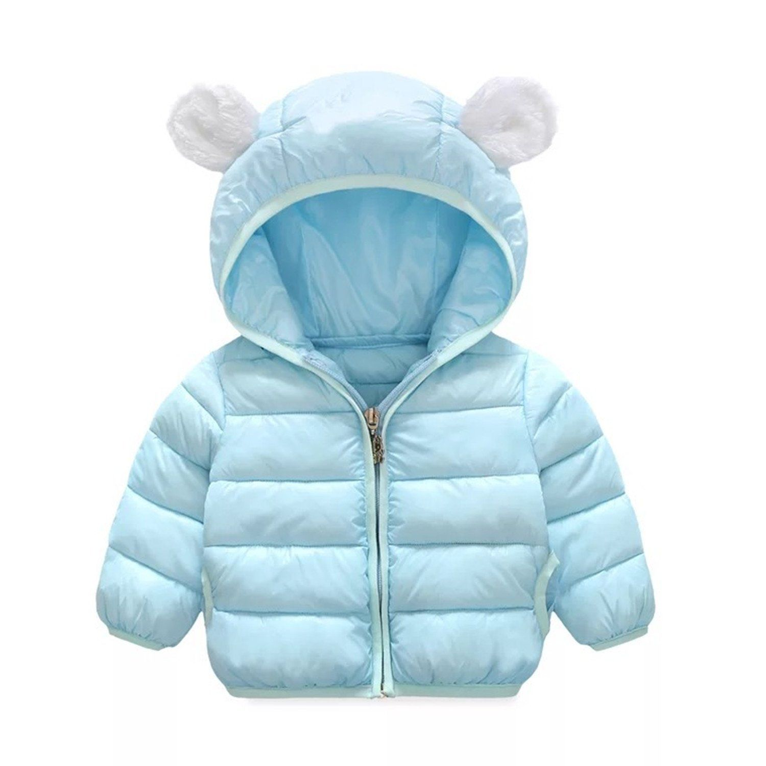 Kids Winter Cotton Jacket Coat Cartoon Puffer Outwear Baby Ultra Hood Snowsuit