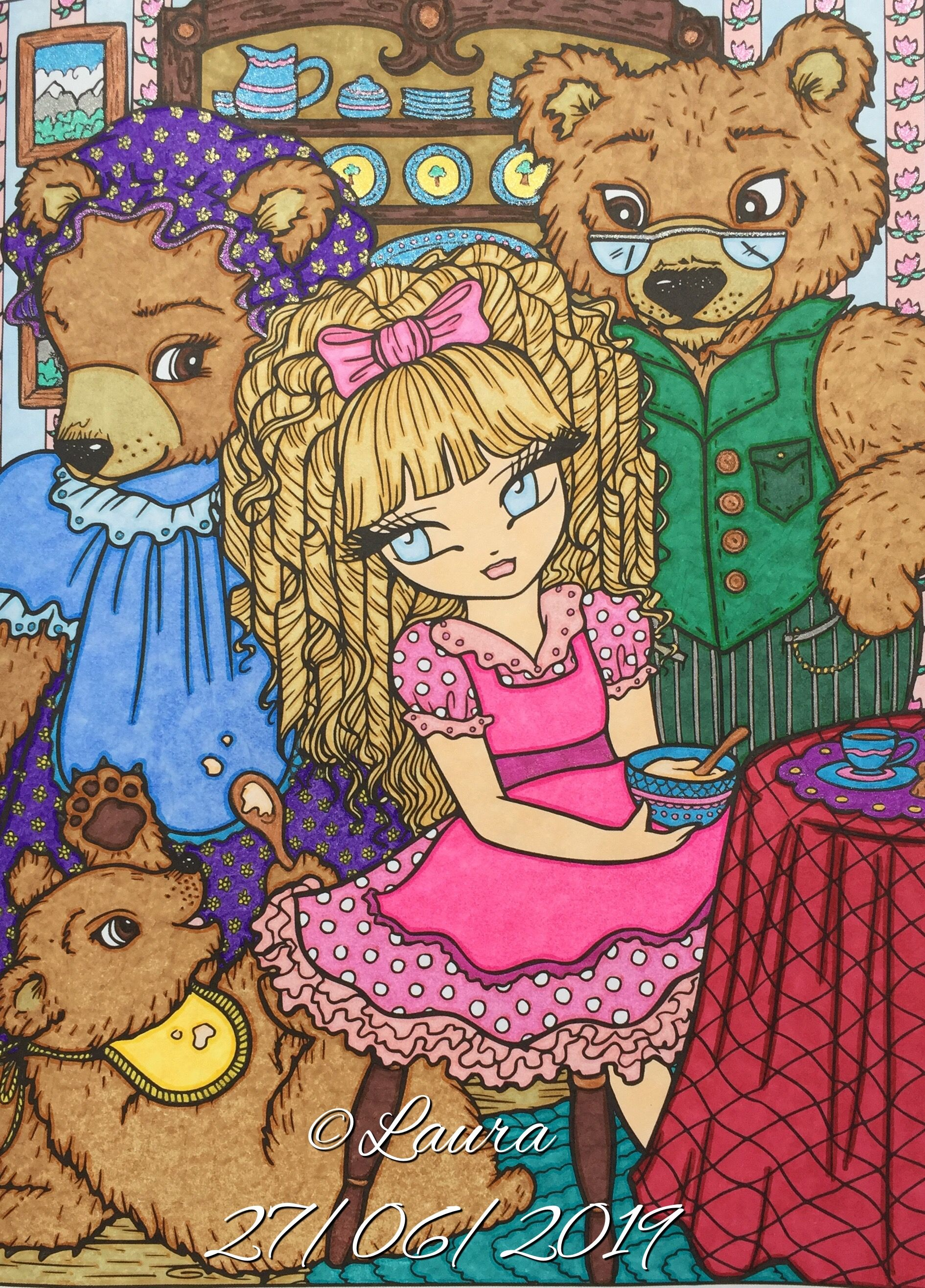 Goldilocks And The Three Bears From Fairy Tale Princesses