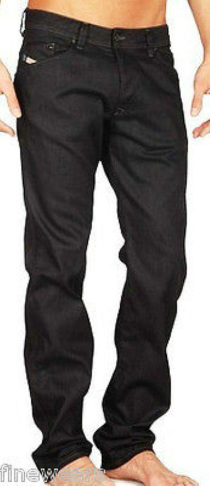 Mens Diesel Jeans 27   28 Darron 64U Black Regular Slim Tapered New  Authentic 8e91a5e18e