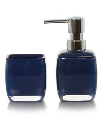 Royal Navy Blue 2 piece bathroom accessory set Bathextras…   Royal ...