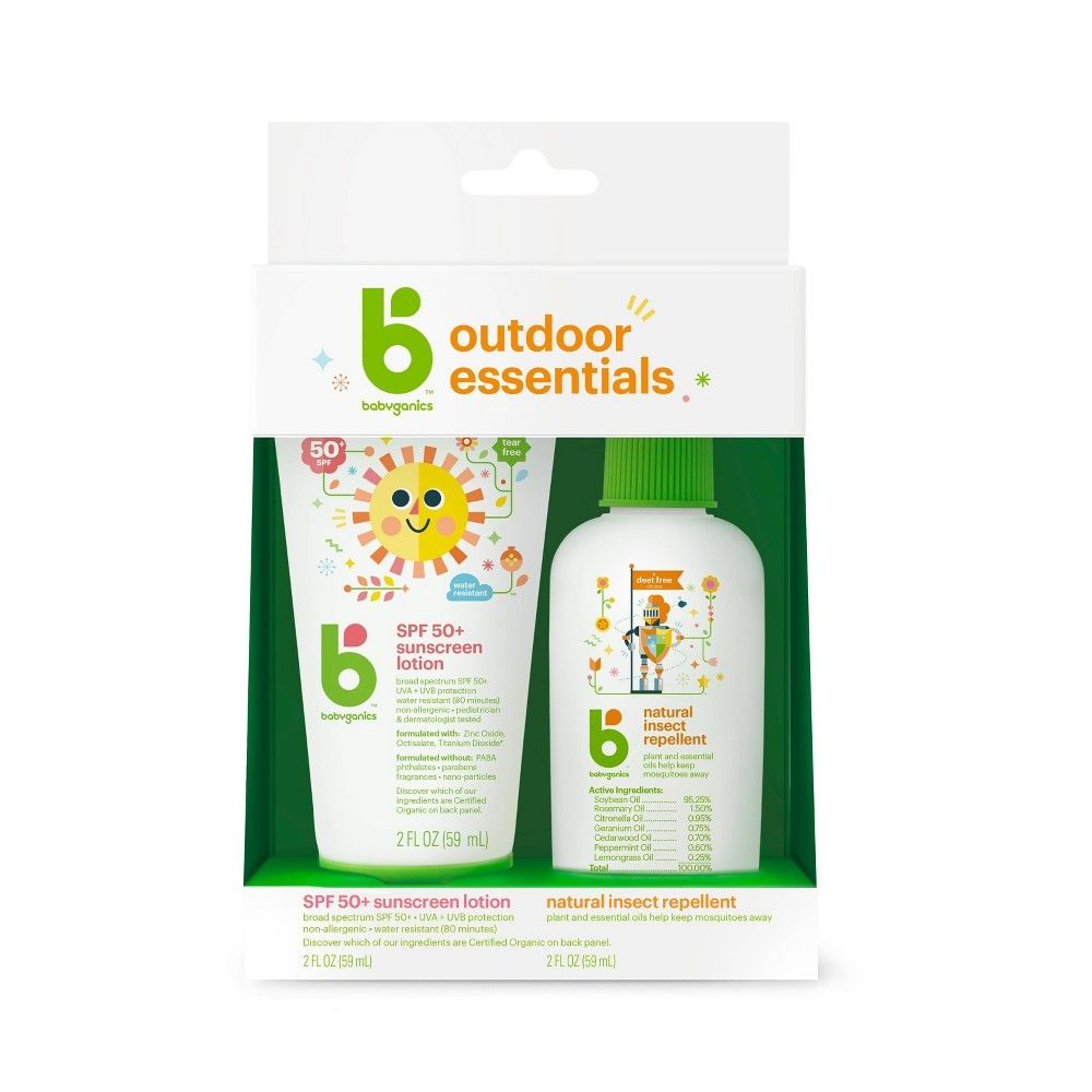 Babyganics Outdoor Essentials Duo Pack Alcohol Free Hand
