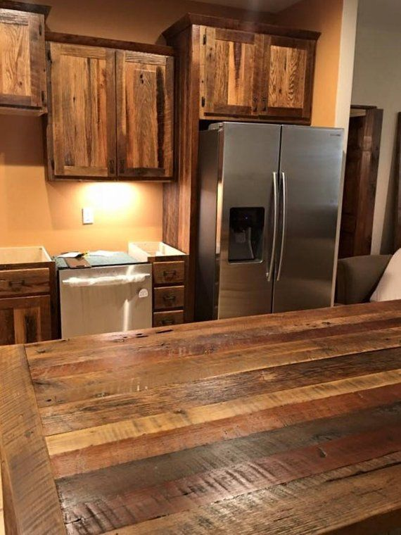Flat Pack Cabinets Rta Wood Cabinets Custom Diy Cabinets Cabinets To Go Rustic Reclaimed Wood Made In Usa Skaggs Creek Wood Shop Rustic Kitchen Design Rustic Kitchen Cabinets Assembled Kitchen Cabinets