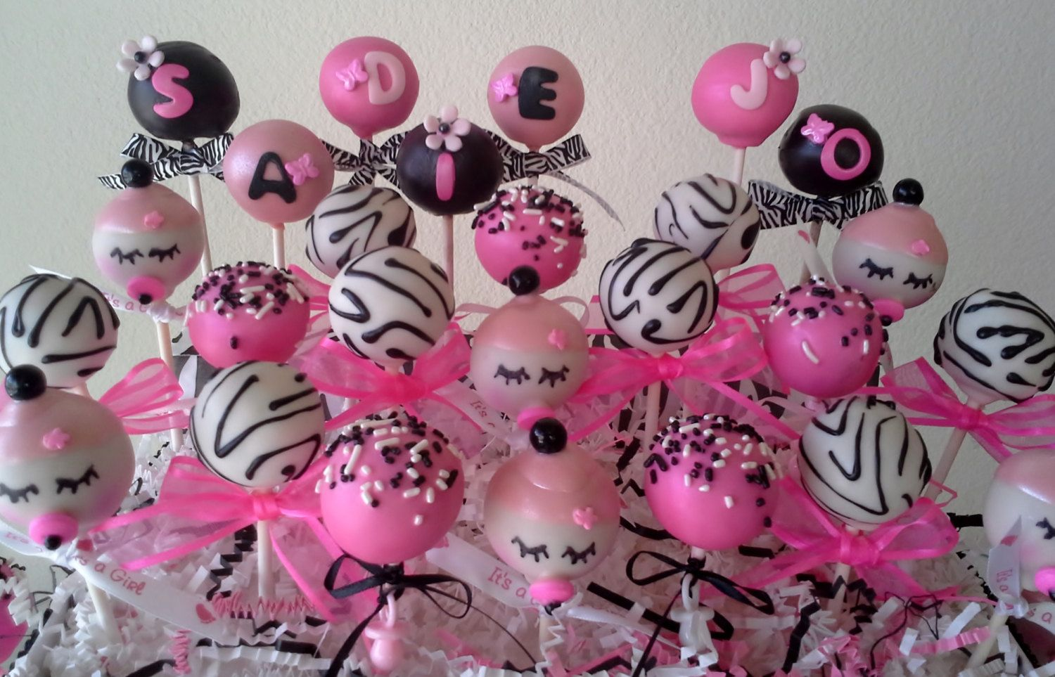 Baby Shower Cakes With Zebra Stripes ~ Baby cake pops perfect for my sister cakes baby