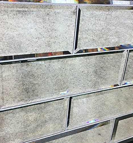 4' x 12' Wide Beveled Subway Antique Mirror Tile ...