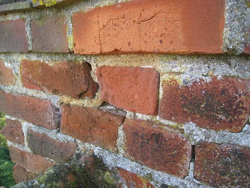 How To Make Mix And Use Mortar For Repointing Brickwork And Ridge Tiles Painted Brick Walls Brick Wall Gardens Brick Repair