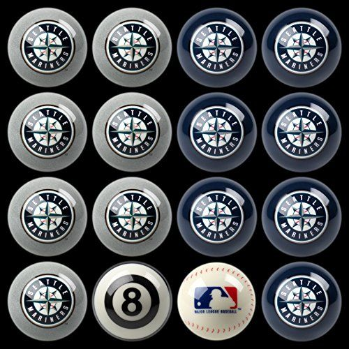 Seattle Mariners Billiard Balls