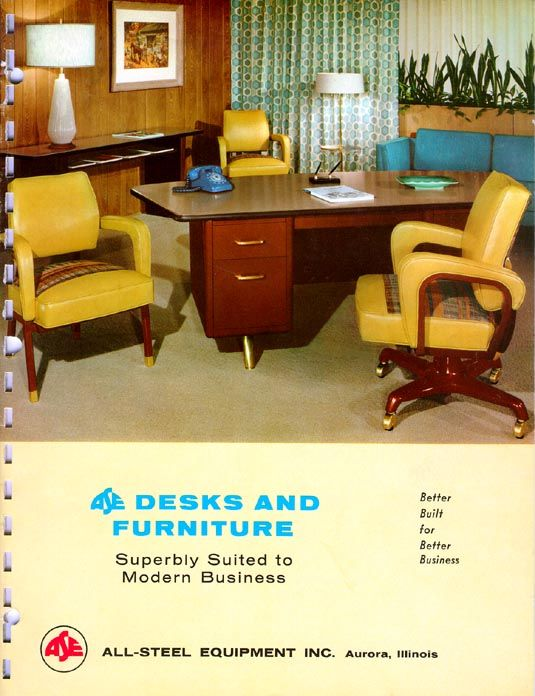 desk & furniture - vintage allsteel catalog | throwback