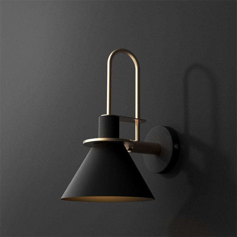 Oklak Nordic Wall Light Black The Fancy Place Industrial