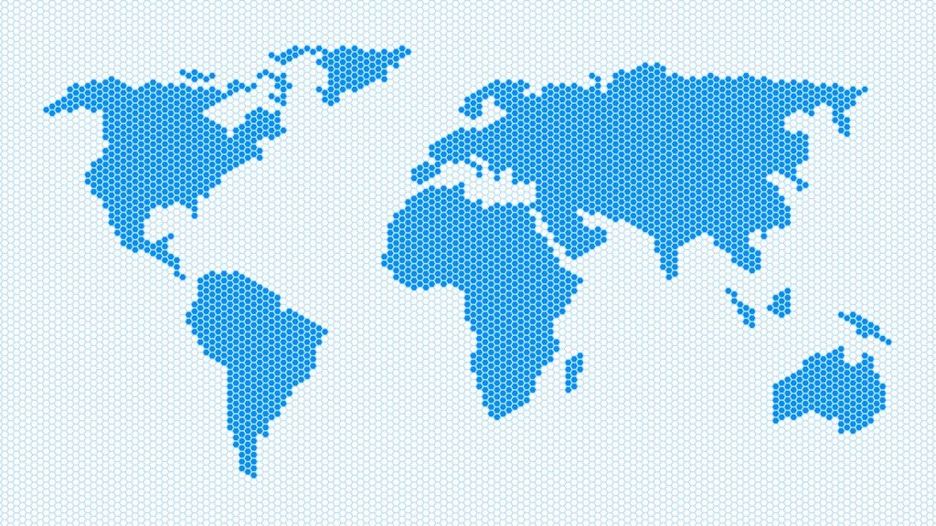 Dotted world map dotted world map world map made of hexagons in png for your custom modifications and designs gumiabroncs Images