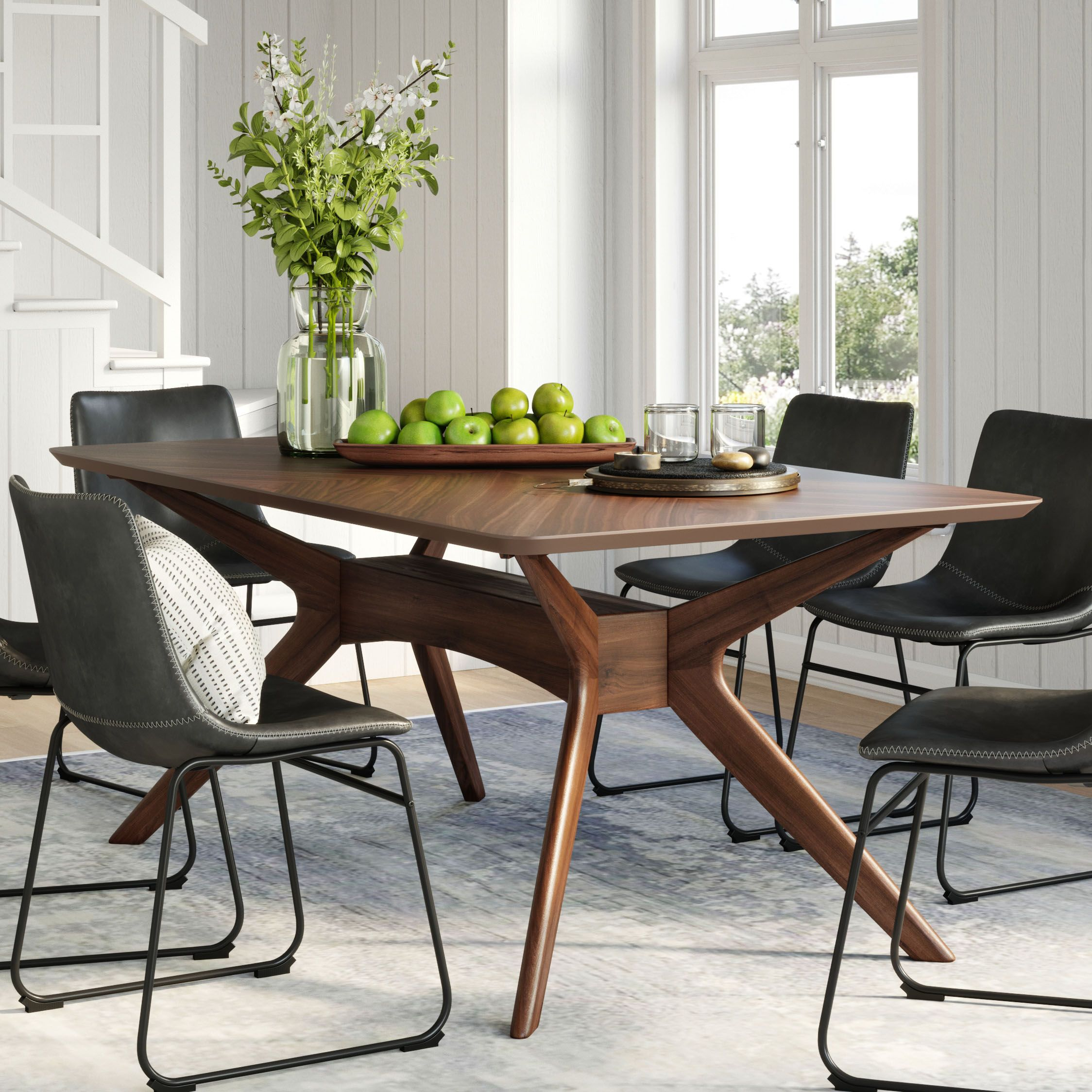 Sigrid Rectangular Dining Table Midcentury Modern Dining Table