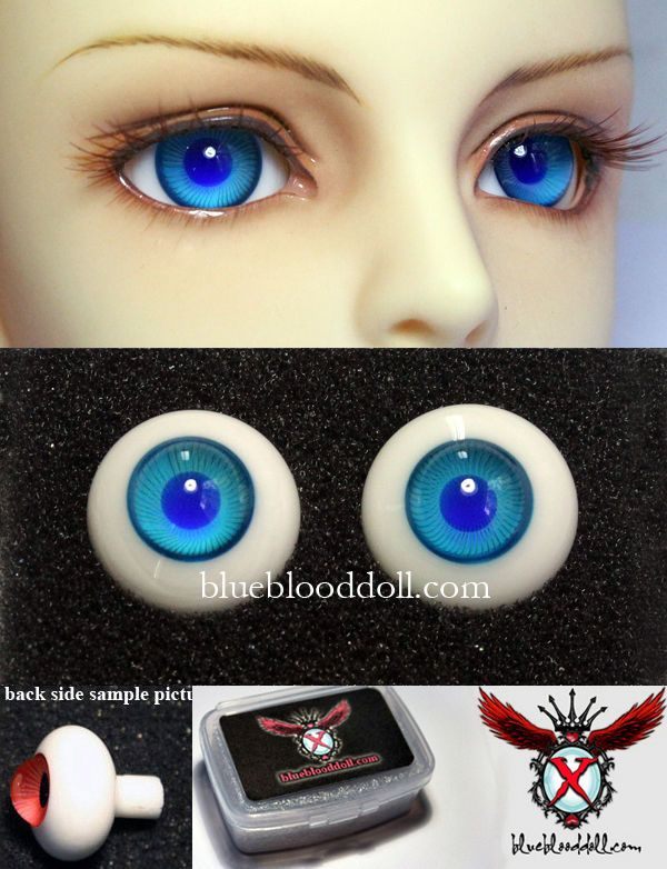 16mm Grey Color Eyeballs For BJD AOD DOD Doll Dollfie Glass Eyes Outfit