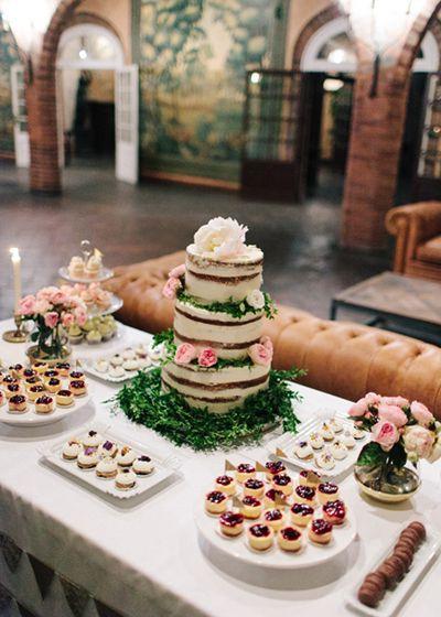 Boda Organizada Por Detallerie Sweet Buffet With Buffetcake Weddingfood
