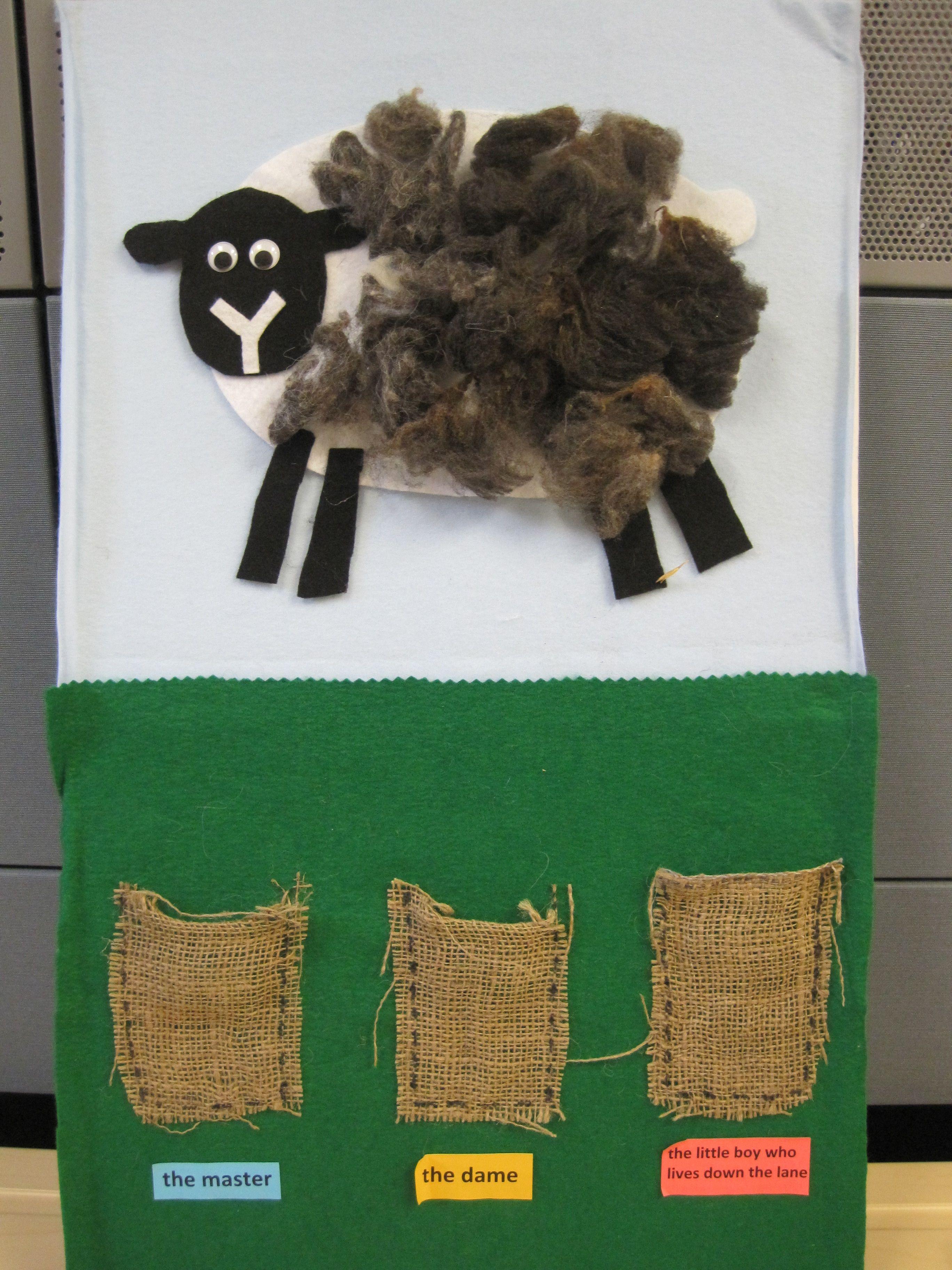 Baa Baa Black Sheep Flannel Board Idea